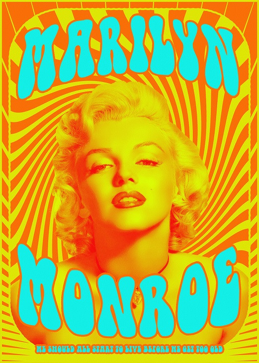 psychedelic marilyn monroe