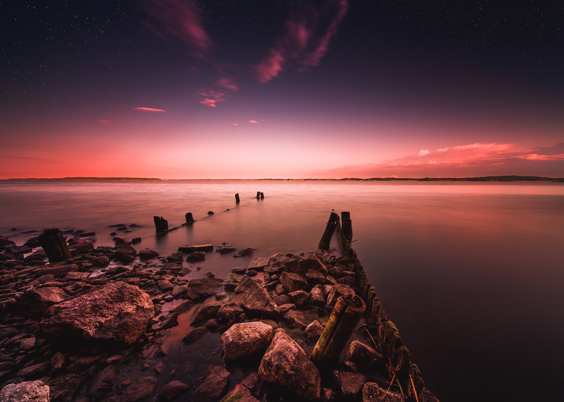 dawn by the sea photography