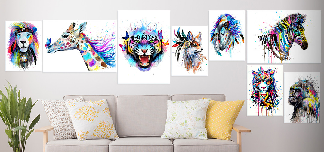 colorful animals collection