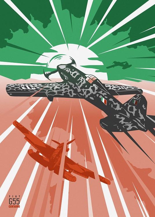 centauro plane illustration