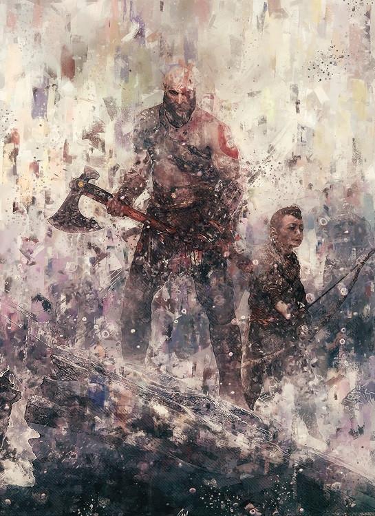 game poster kratos