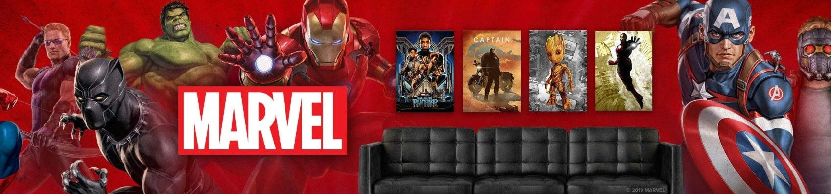 Marvel Officialy Licensed Prints on Wall