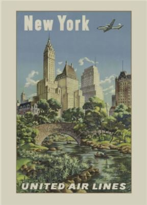 Vintage NY Travel Poster