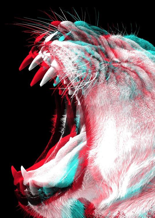 double exposure tiger