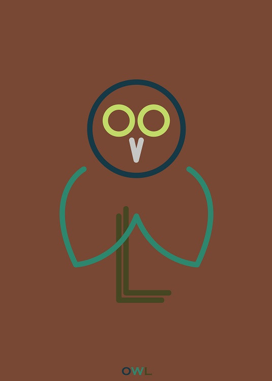 owl from letters