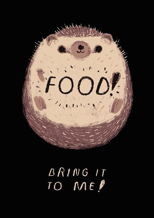 food metal poster