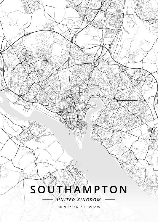 map metal poster