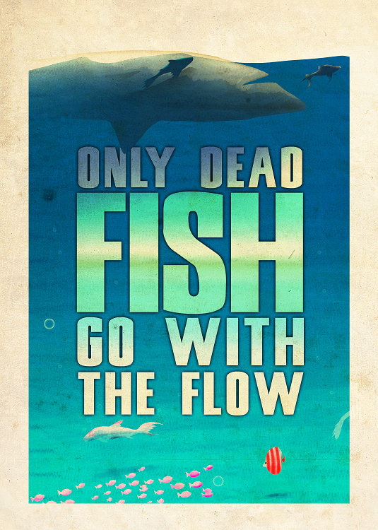 fish typo design