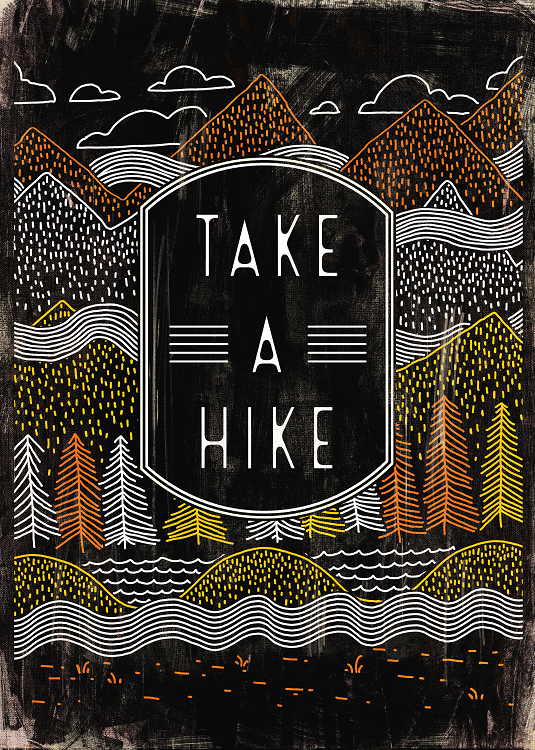take a hike typo design