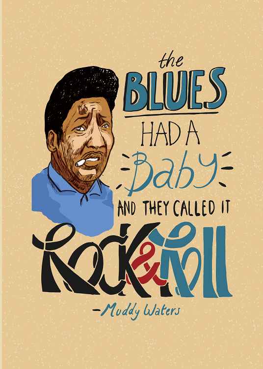 blues baby typo design