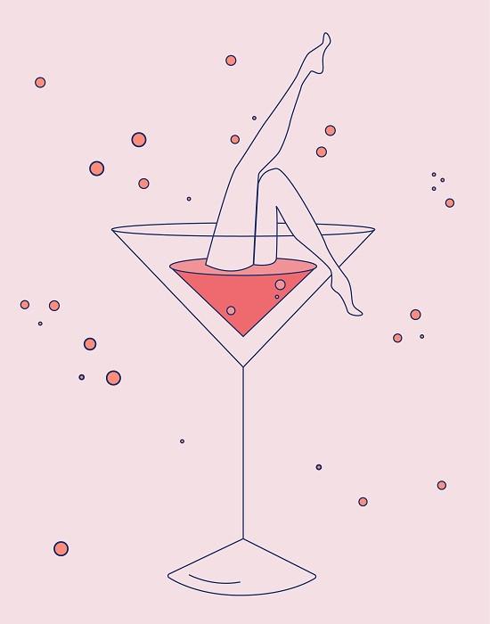 pink martini illustration