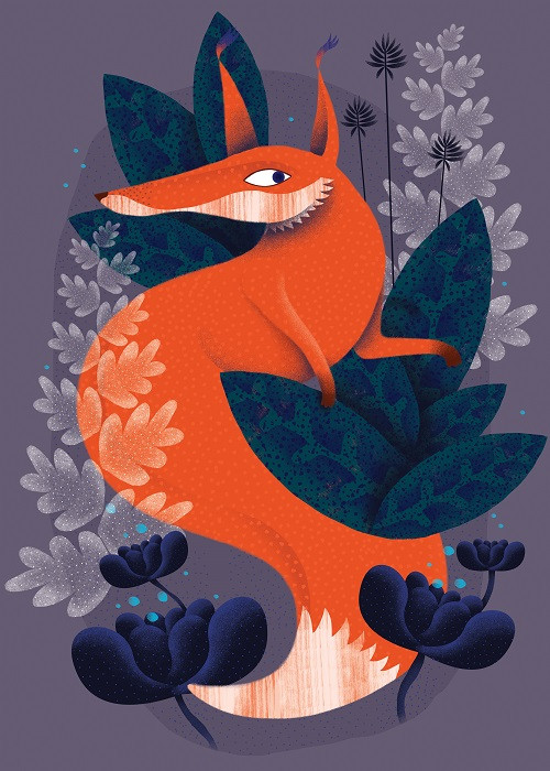 night fox illustration
