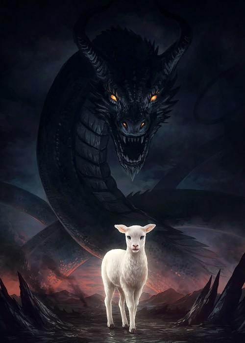 dragon and lamb poster