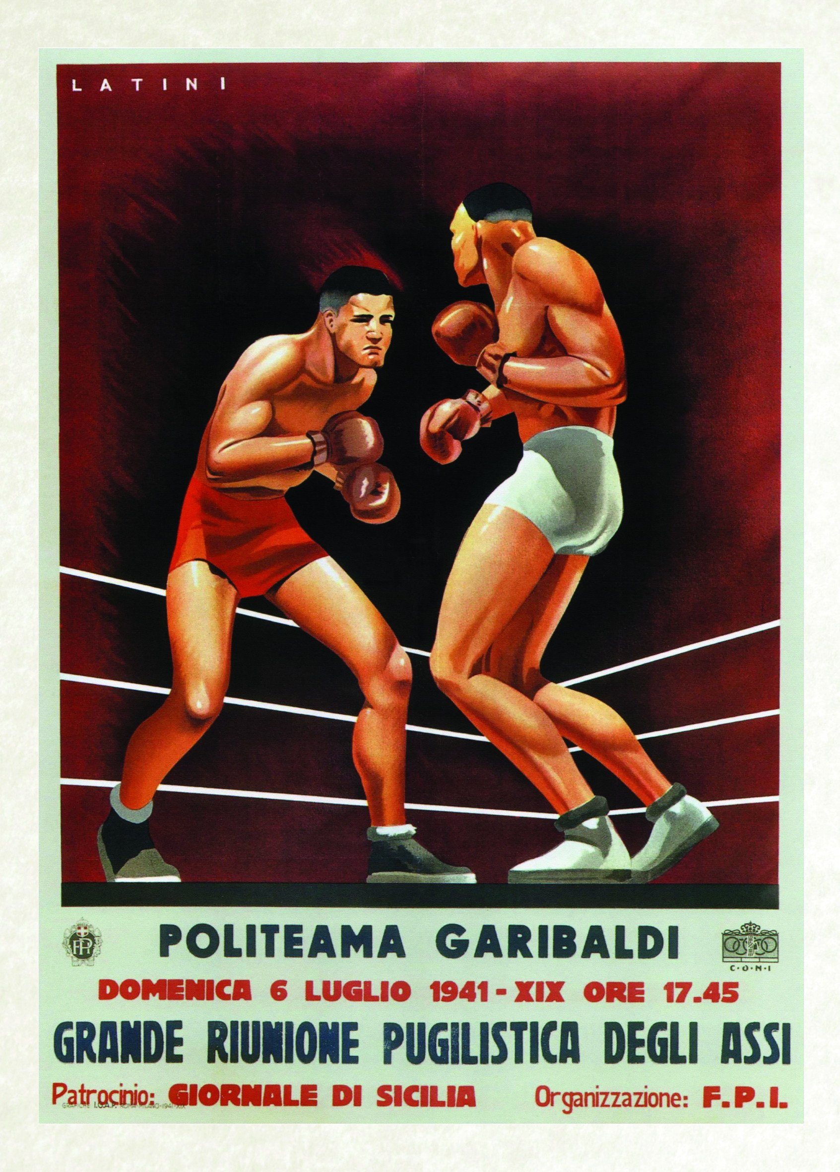 vintage poster boxing