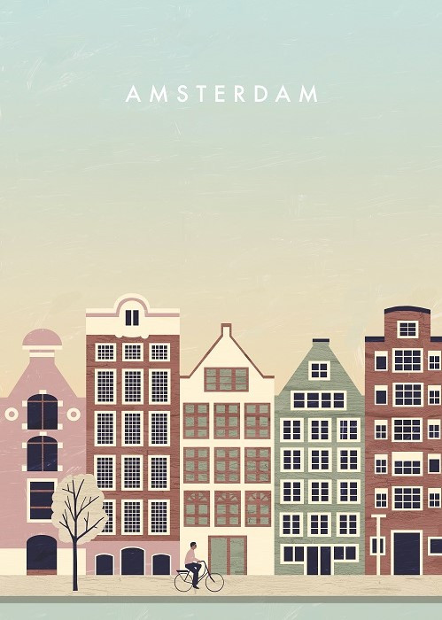 amsterdam view poster