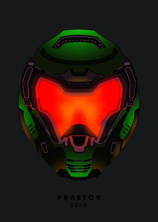 game helmet poster